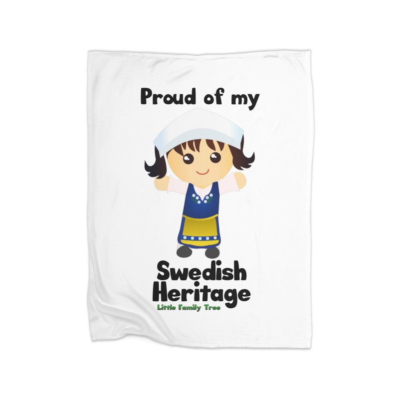 Swedish Heritage Girl Home Blanket by Yellow Fork Tech's Shop