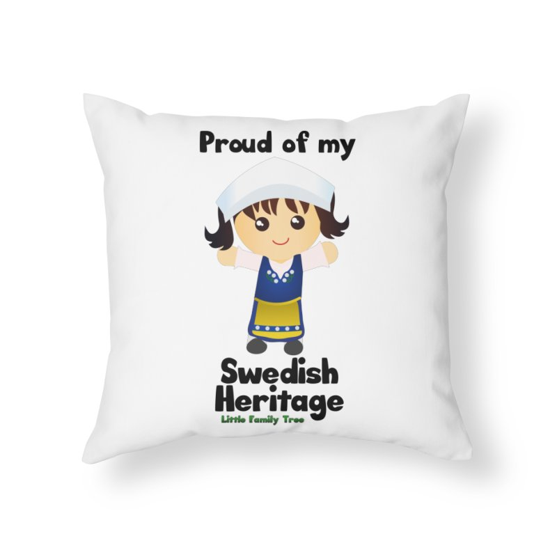 Swedish Heritage Girl Home Throw Pillow by Yellow Fork Tech's Shop