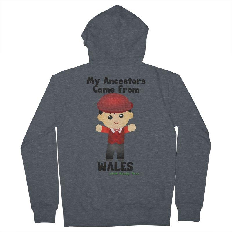 Wales Ancestors Boy Men's Zip-Up Hoody by Yellow Fork Tech's Shop
