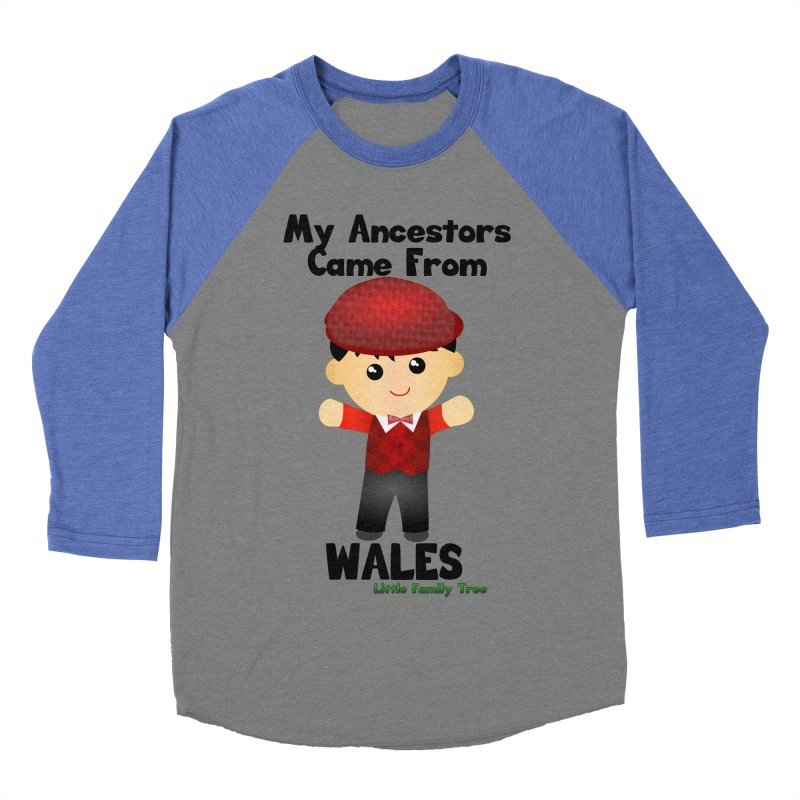 Wales Ancestors Boy Men's Baseball Triblend T-Shirt by Yellow Fork Tech's Shop