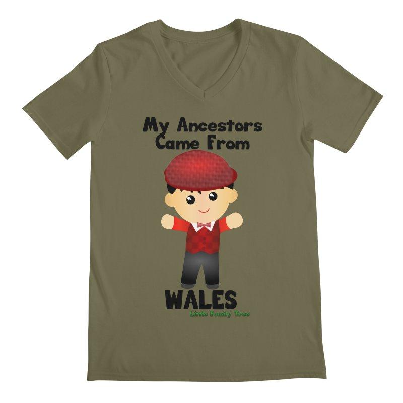 Wales Ancestors Boy Men's V-Neck by Yellow Fork Tech's Shop