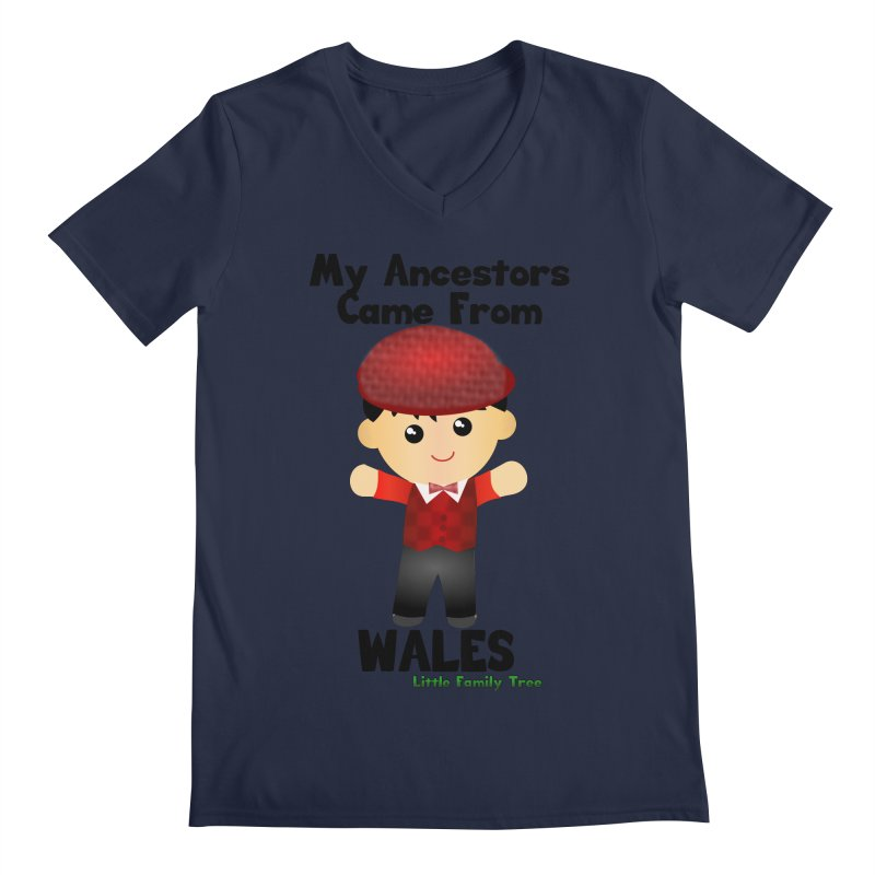 Wales Ancestors Boy Men's V-Neck by Yellow Fork Tech's Shop