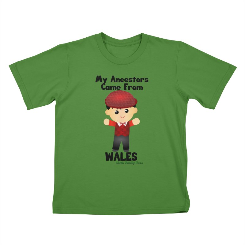 Wales Ancestors Boy Kids T-Shirt by Yellow Fork Tech's Shop