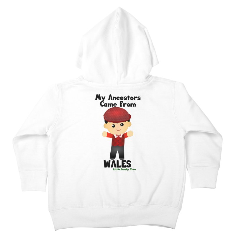 Wales Ancestors Boy Kids Toddler Zip-Up Hoody by Yellow Fork Tech's Shop