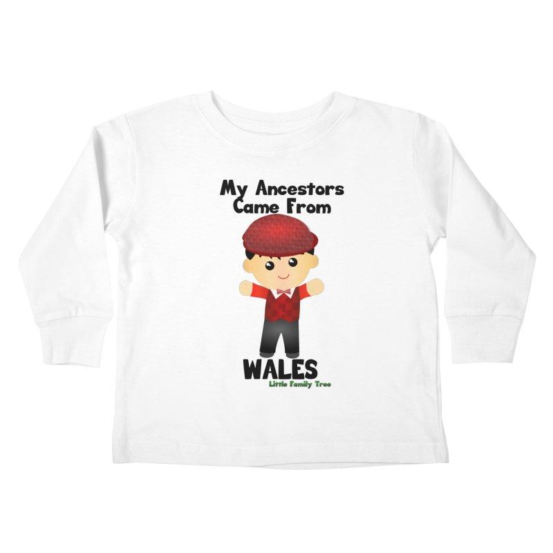 Wales Ancestors Boy Kids Toddler Longsleeve T-Shirt by Yellow Fork Tech's Shop