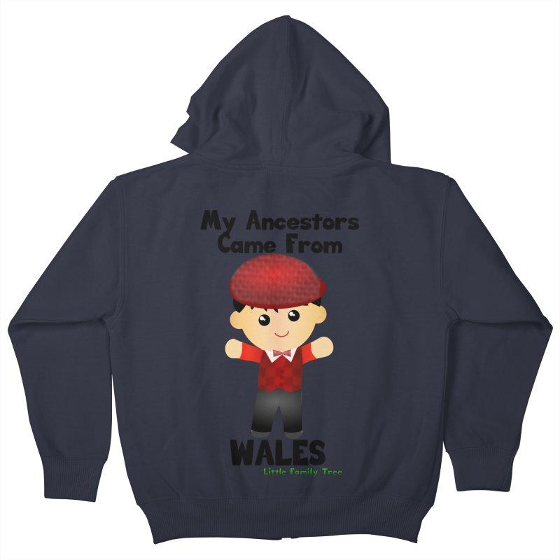 Wales Ancestors Boy Kids Zip-Up Hoody by Yellow Fork Tech's Shop