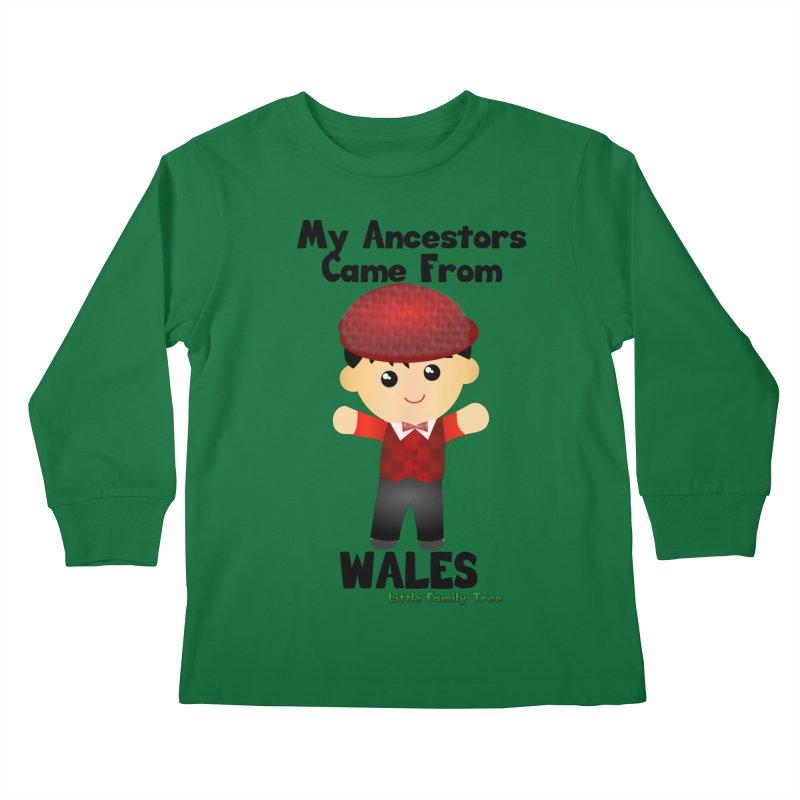 Wales Ancestors Boy Kids Longsleeve T-Shirt by Yellow Fork Tech's Shop