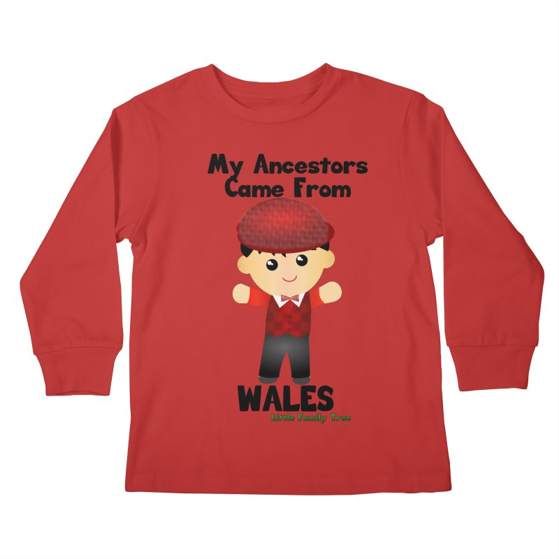 Wales Ancestors Boy Kids Longsleeve T-Shirt by Yellow Fork Tech's Shop