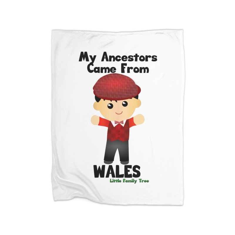 Wales Ancestors Boy Home Blanket by Yellow Fork Tech's Shop