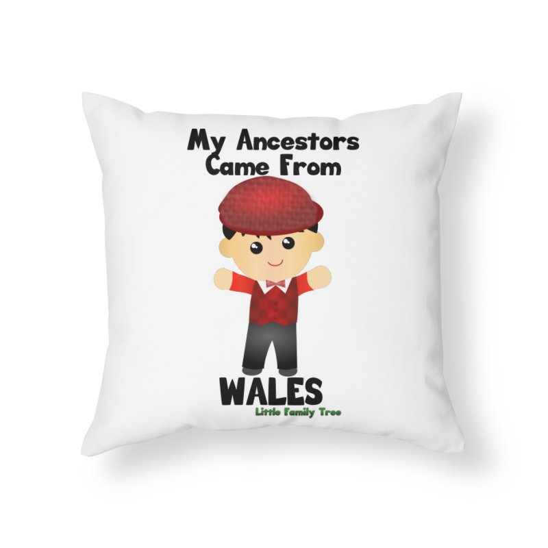 Wales Ancestors Boy Home Throw Pillow by Yellow Fork Tech's Shop