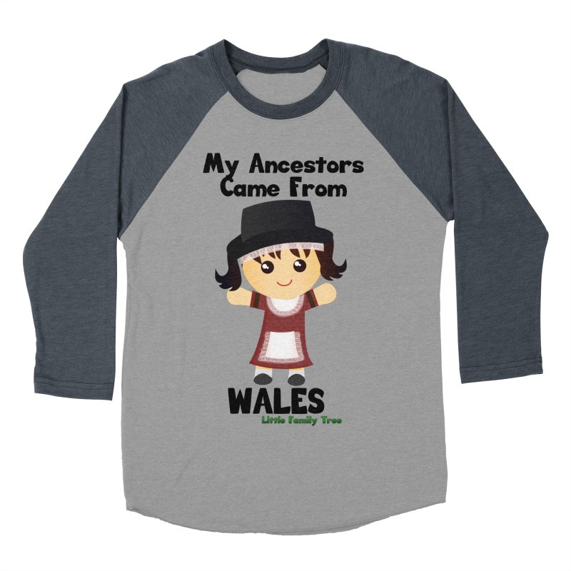 Wales Ancestors Girl Women's Baseball Triblend T-Shirt by Yellow Fork Tech's Shop