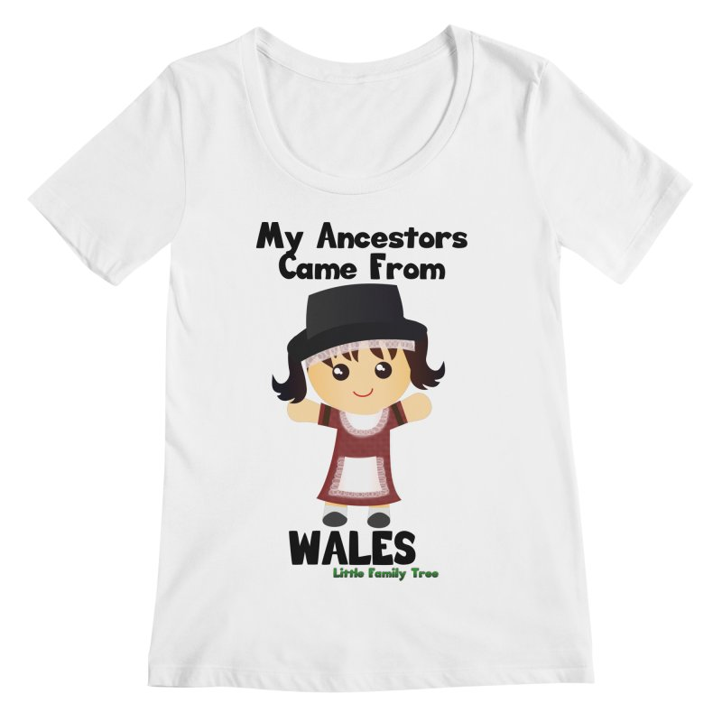 Wales Ancestors Girl Women's Scoopneck by Yellow Fork Tech's Shop