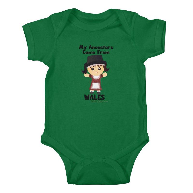 Wales Ancestors Girl Kids Baby Bodysuit by Yellow Fork Tech's Shop