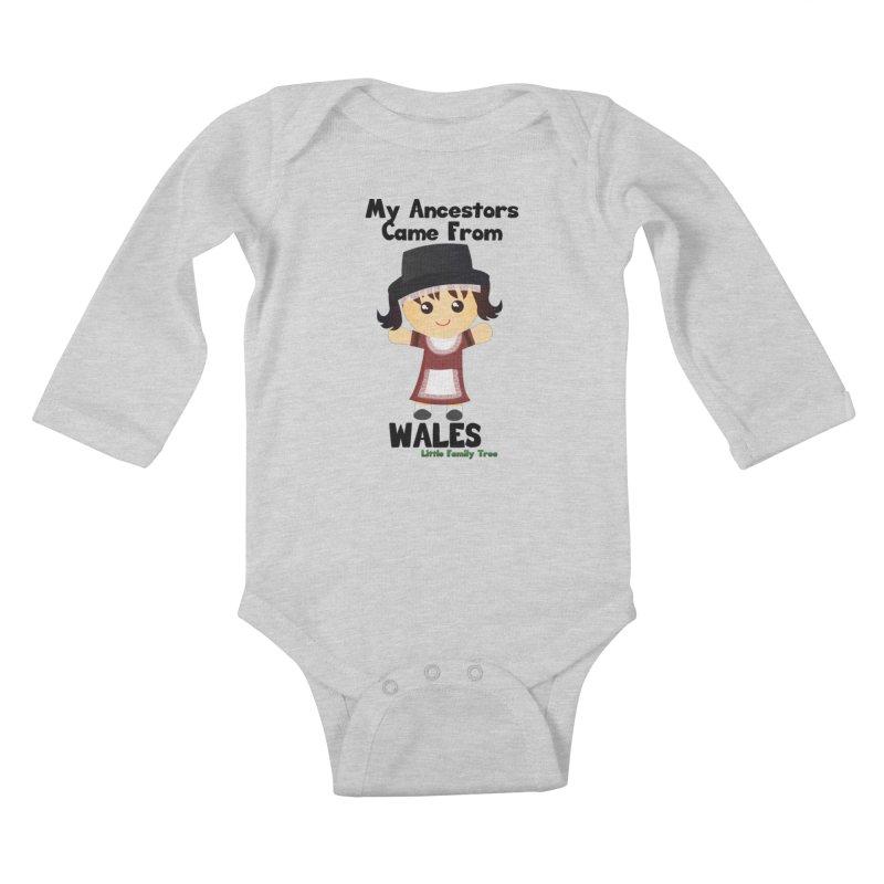 Wales Ancestors Girl Kids Baby Longsleeve Bodysuit by Yellow Fork Tech's Shop