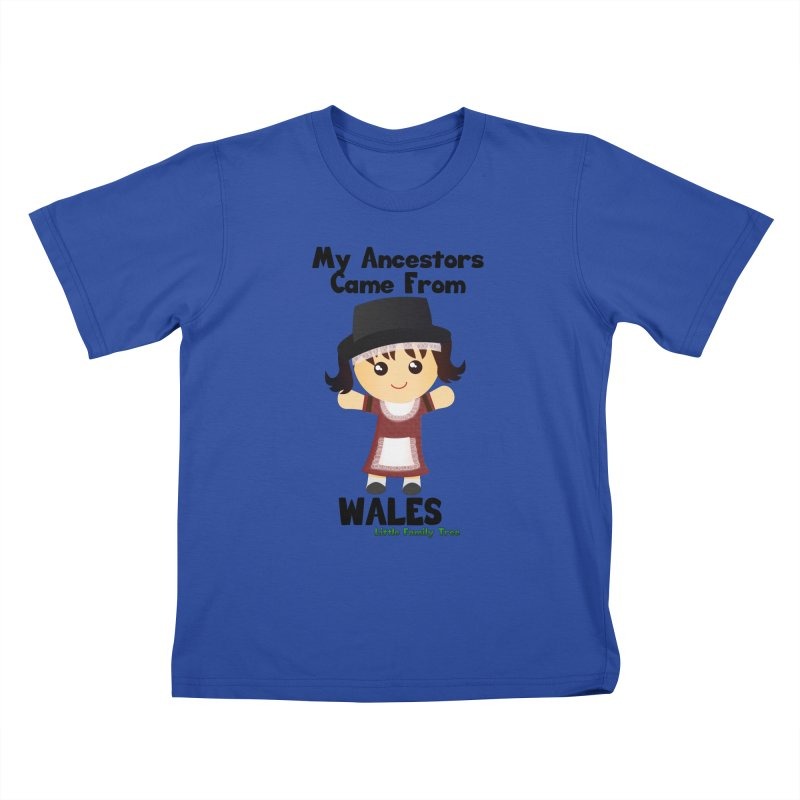 Wales Ancestors Girl Kids T-Shirt by Yellow Fork Tech's Shop