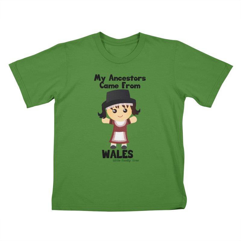 Wales Ancestors Girl Kids T-Shirt by Yellow Fork Tech's Shop