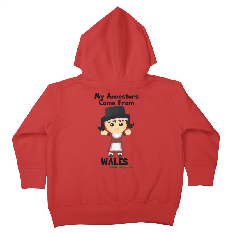 Wales Ancestors Girl Kids Toddler Zip-Up Hoody by Yellow Fork Tech's Shop