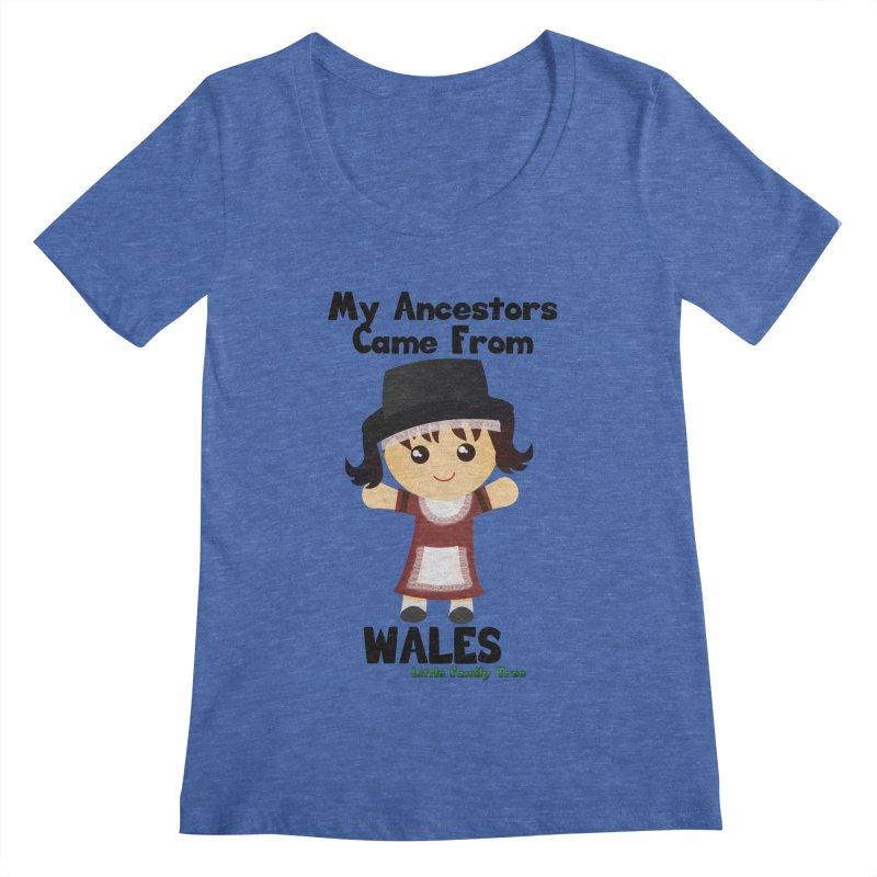 Wales Ancestors Girl Women's Scoopneck by Yellow Fork Tech's Shop