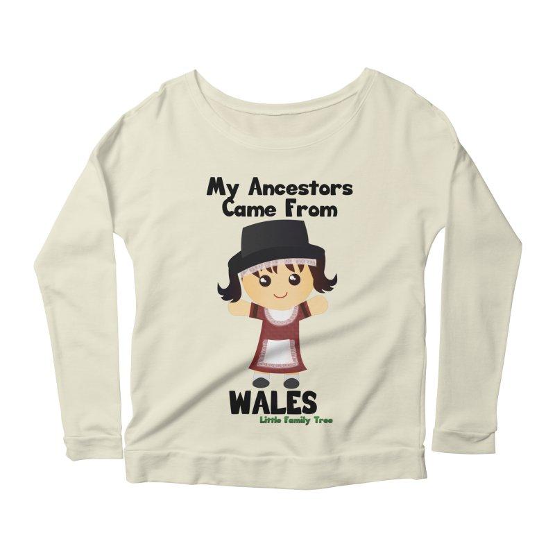 Wales Ancestors Girl Women's Longsleeve Scoopneck  by Yellow Fork Tech's Shop