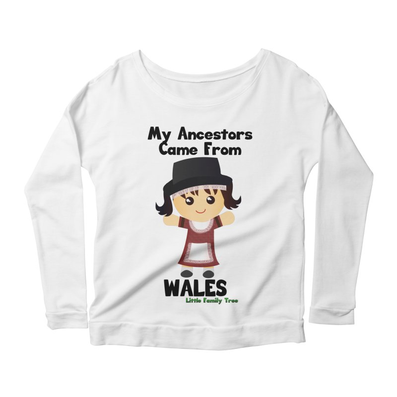 Wales Ancestors Girl Women's Longsleeve Scoopneck  by Yellow Fork Tech's Shop