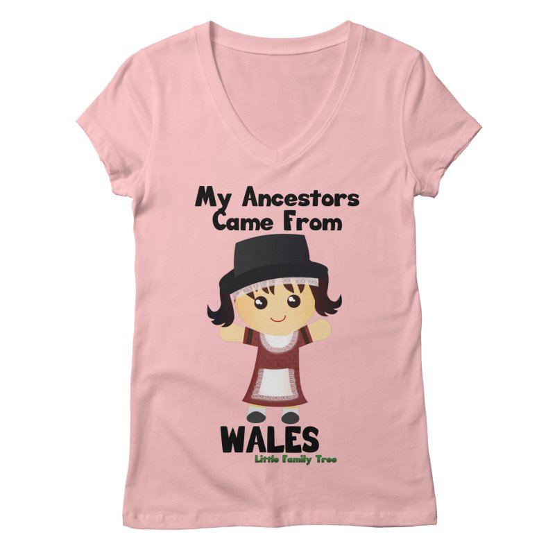 Wales Ancestors Girl Women's V-Neck by Yellow Fork Tech's Shop