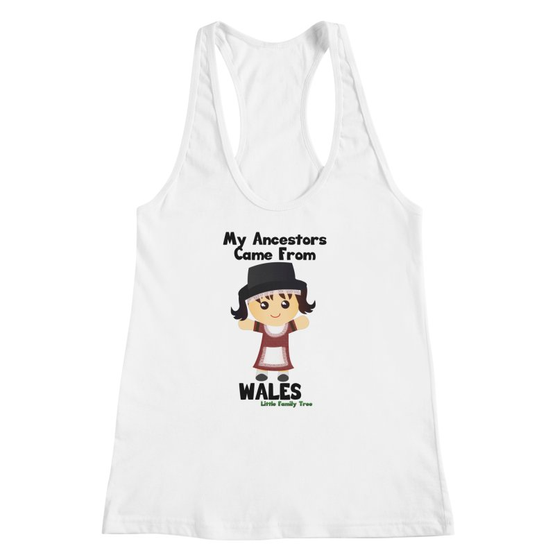 Wales Ancestors Girl Women's Racerback Tank by Yellow Fork Tech's Shop