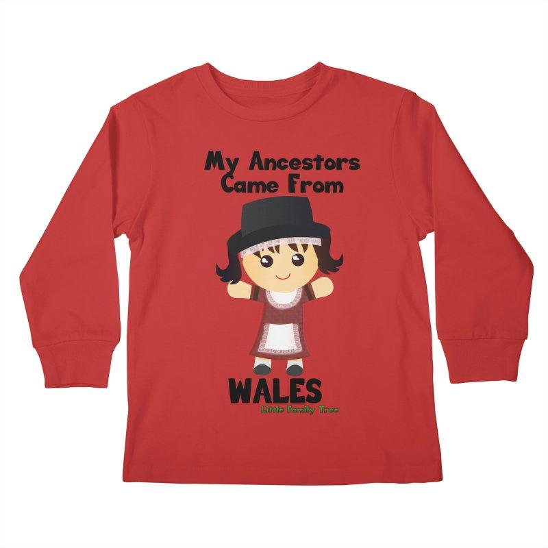 Wales Ancestors Girl Kids Longsleeve T-Shirt by Yellow Fork Tech's Shop