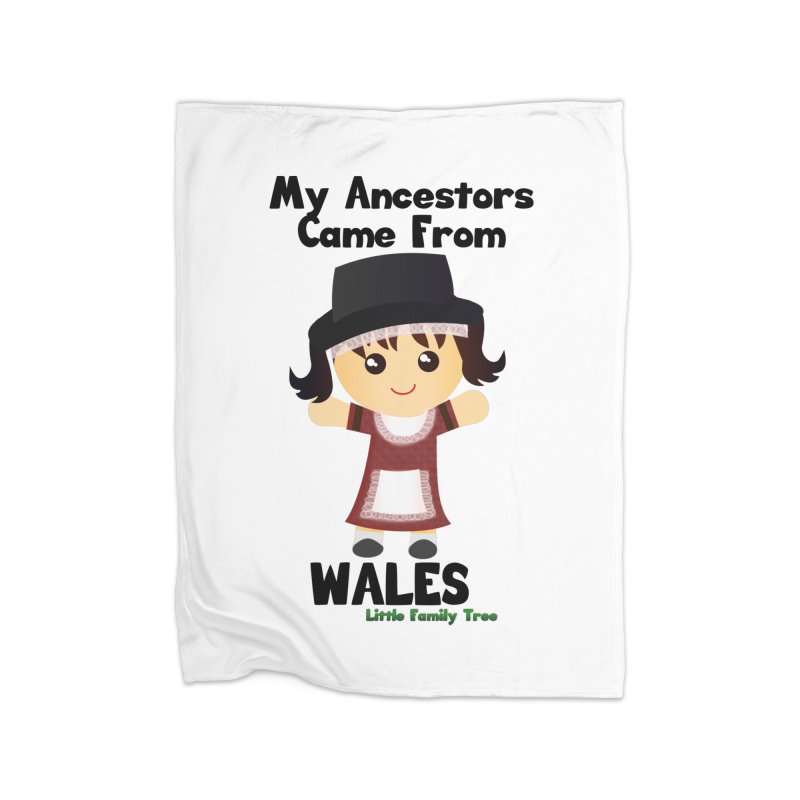 Wales Ancestors Girl Home Blanket by Yellow Fork Tech's Shop