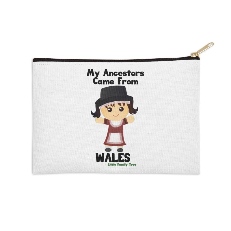 Wales Ancestors Girl Accessories Zip Pouch by Yellow Fork Tech's Shop