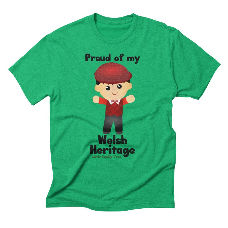 Welsh Heritage Boy Men's Triblend T-Shirt by Yellow Fork Tech's Shop