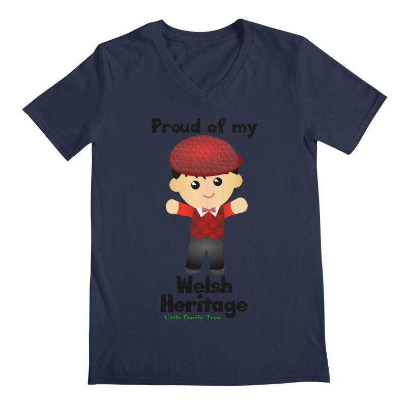 Welsh Heritage Boy Men's V-Neck by Yellow Fork Tech's Shop
