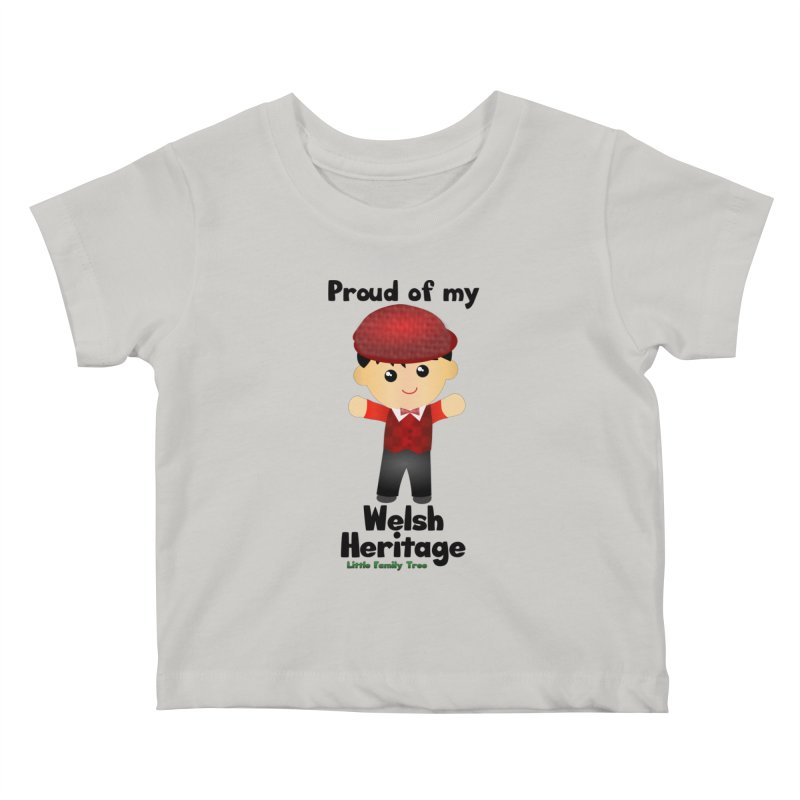 Welsh Heritage Boy Kids Baby T-Shirt by Yellow Fork Tech's Shop