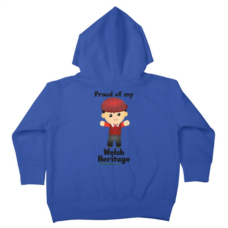 Welsh Heritage Boy Kids Toddler Zip-Up Hoody by Yellow Fork Tech's Shop