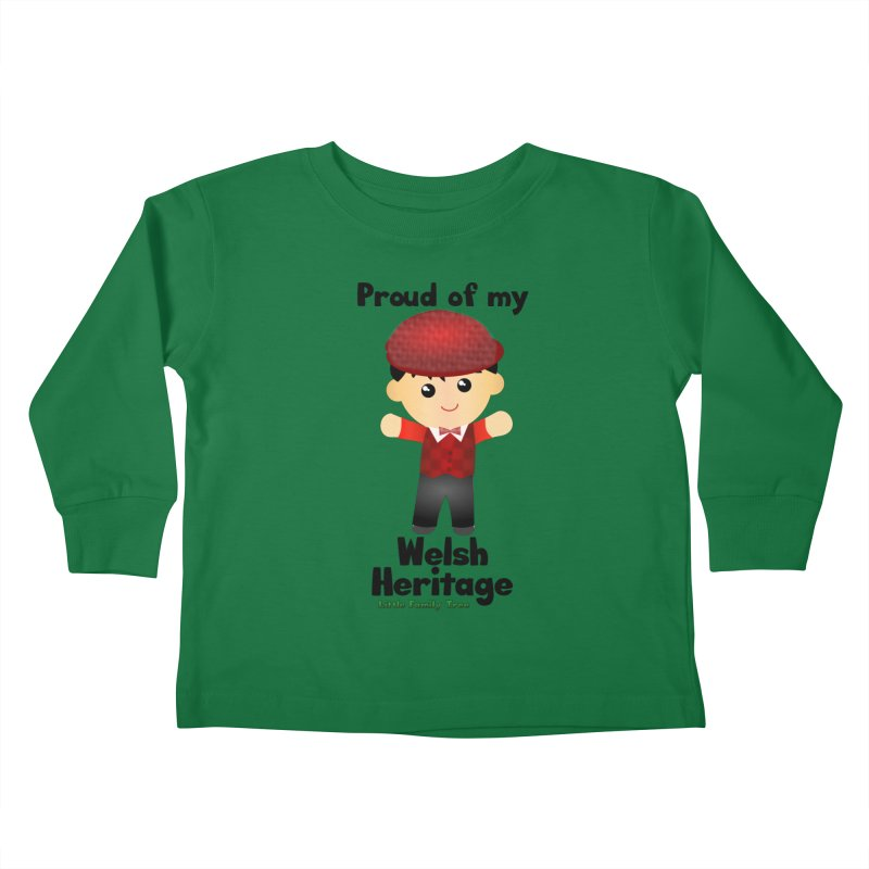 Welsh Heritage Boy Kids Toddler Longsleeve T-Shirt by Yellow Fork Tech's Shop
