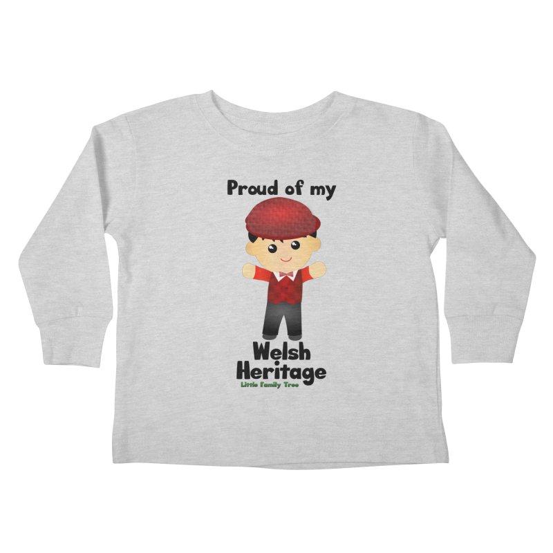 Welsh Heritage Boy Kids Toddler Longsleeve T-Shirt by Yellow Fork Tech's Shop