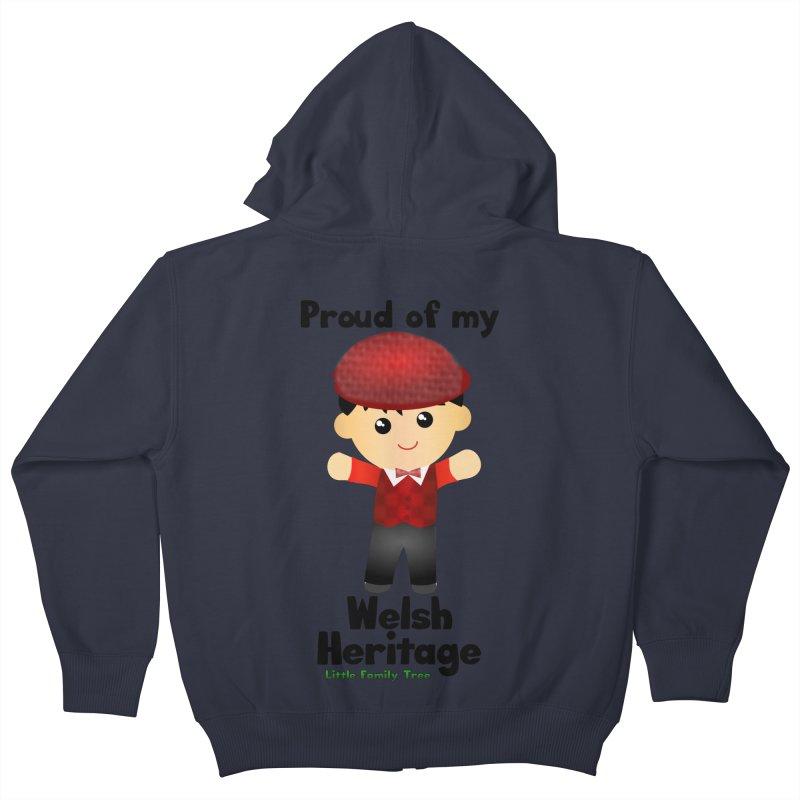 Welsh Heritage Boy Kids Zip-Up Hoody by Yellow Fork Tech's Shop