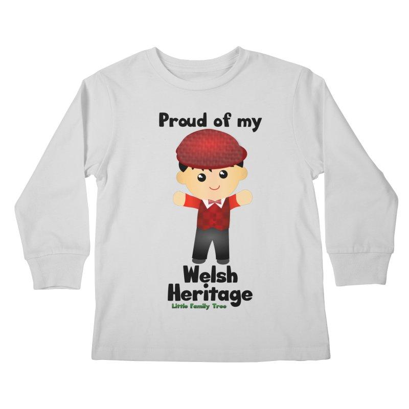 Welsh Heritage Boy Kids Longsleeve T-Shirt by Yellow Fork Tech's Shop
