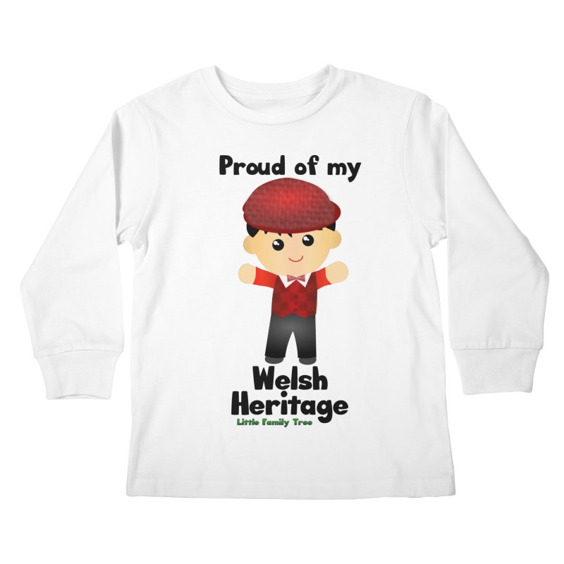 Welsh Heritage Boy Kids Longsleeve T-Shirt by Yellow Fork Tech's Shop