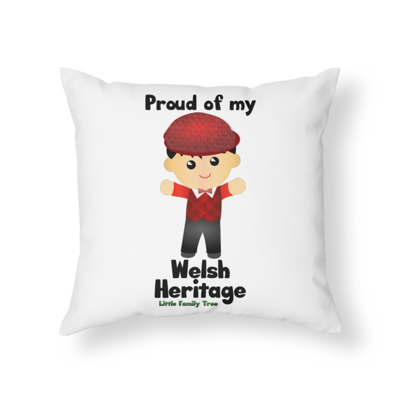 Welsh Heritage Boy Home Throw Pillow by Yellow Fork Tech's Shop
