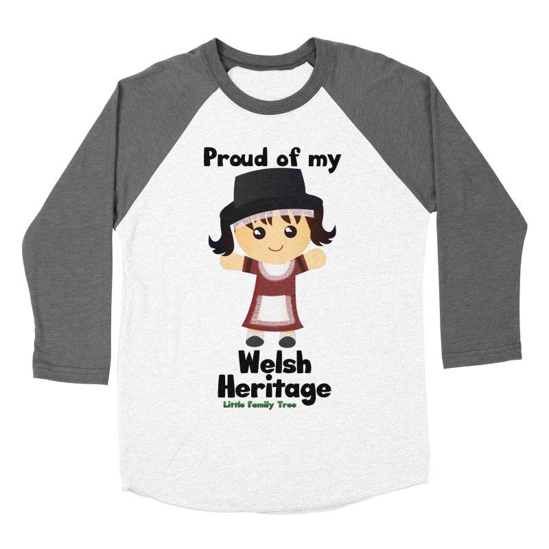 Welsh Heritage Girl Women's Baseball Triblend T-Shirt by Yellow Fork Tech's Shop