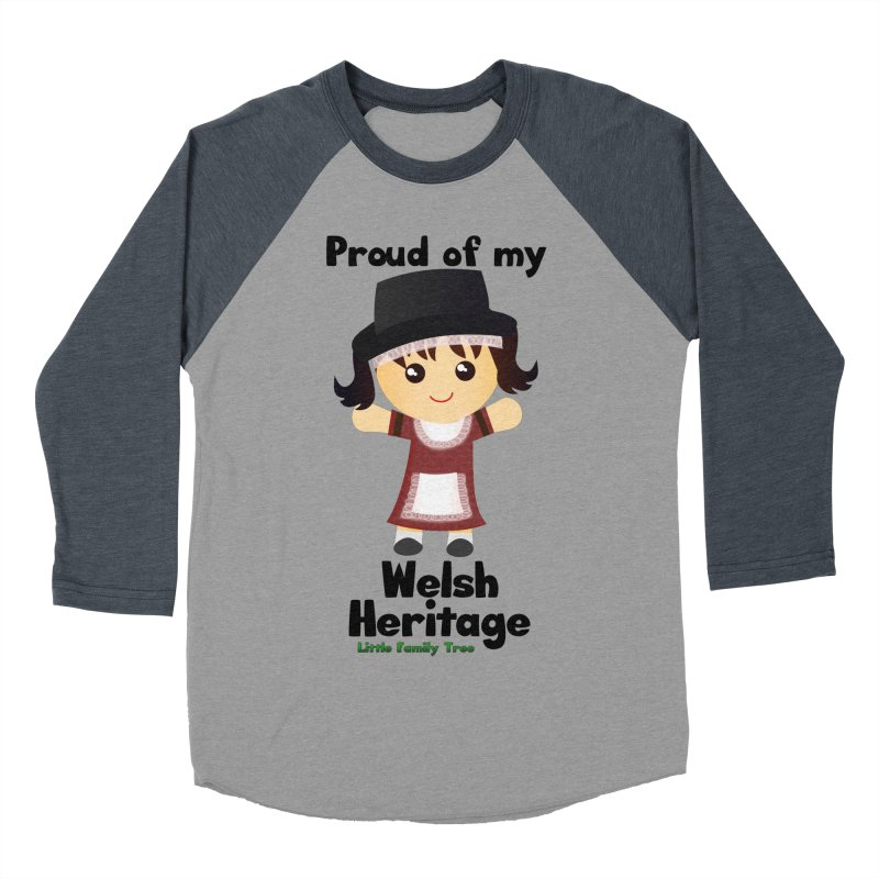 Welsh Heritage Girl Women's Baseball Triblend T-Shirt by Yellow Fork Tech's Shop