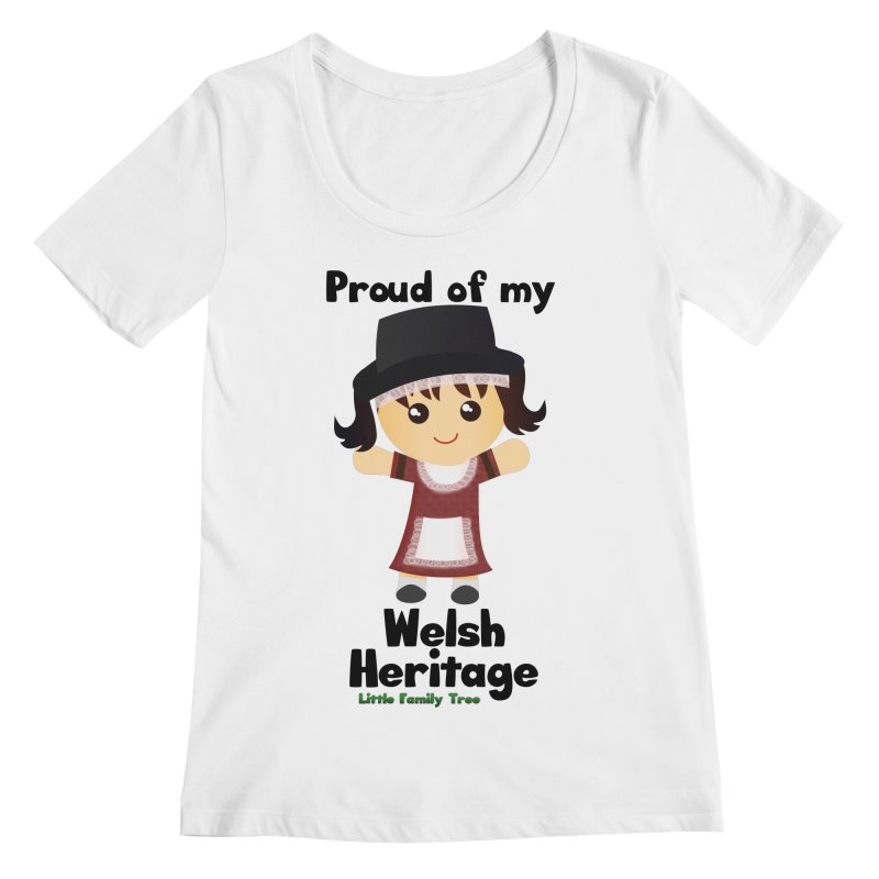 Welsh Heritage Girl Women's Scoopneck by Yellow Fork Tech's Shop