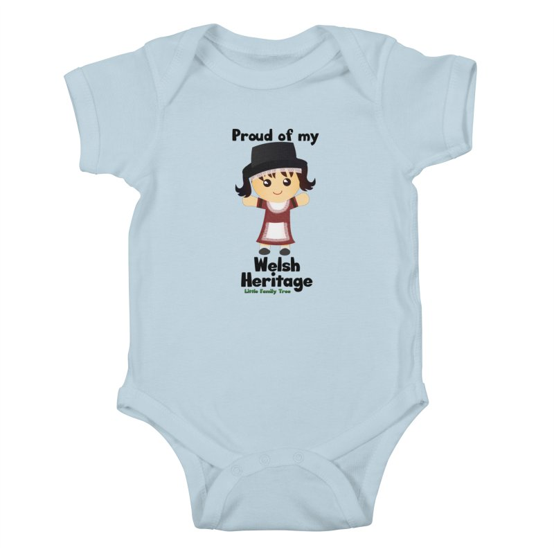 Welsh Heritage Girl Kids Baby Bodysuit by Yellow Fork Tech's Shop