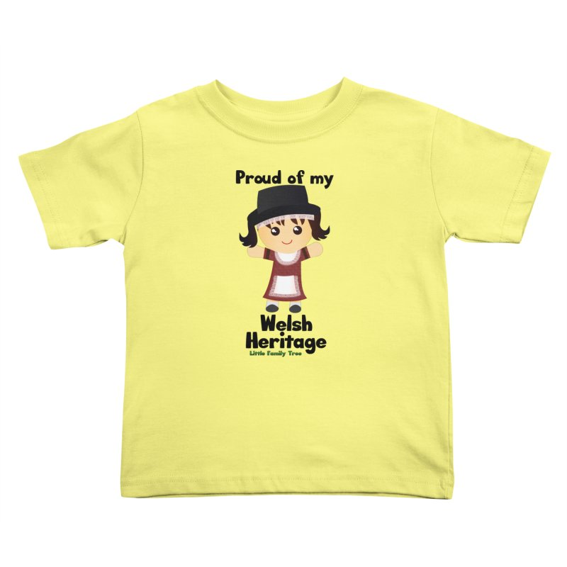 Welsh Heritage Girl Kids Toddler T-Shirt by Yellow Fork Tech's Shop