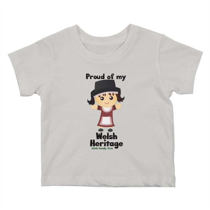 Welsh Heritage Girl Kids Baby T-Shirt by Yellow Fork Tech's Shop