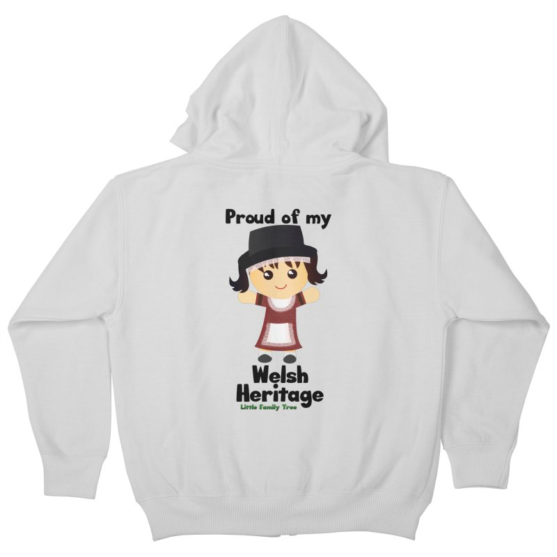 Welsh Heritage Girl Kids Zip-Up Hoody by Yellow Fork Tech's Shop