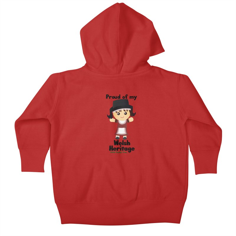 Welsh Heritage Girl Kids Baby Zip-Up Hoody by Yellow Fork Tech's Shop