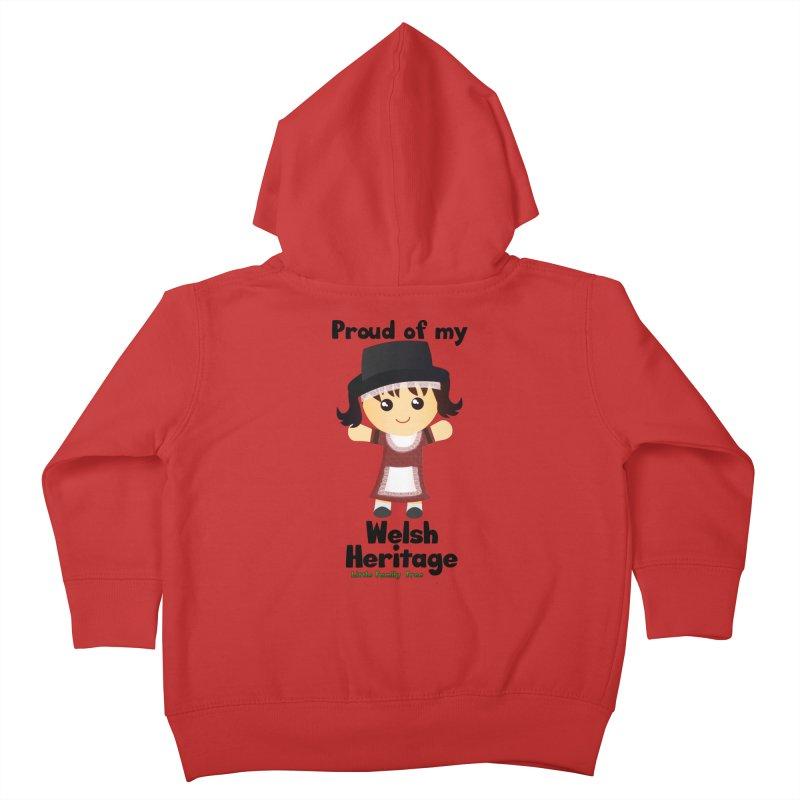 Welsh Heritage Girl Kids Toddler Zip-Up Hoody by Yellow Fork Tech's Shop