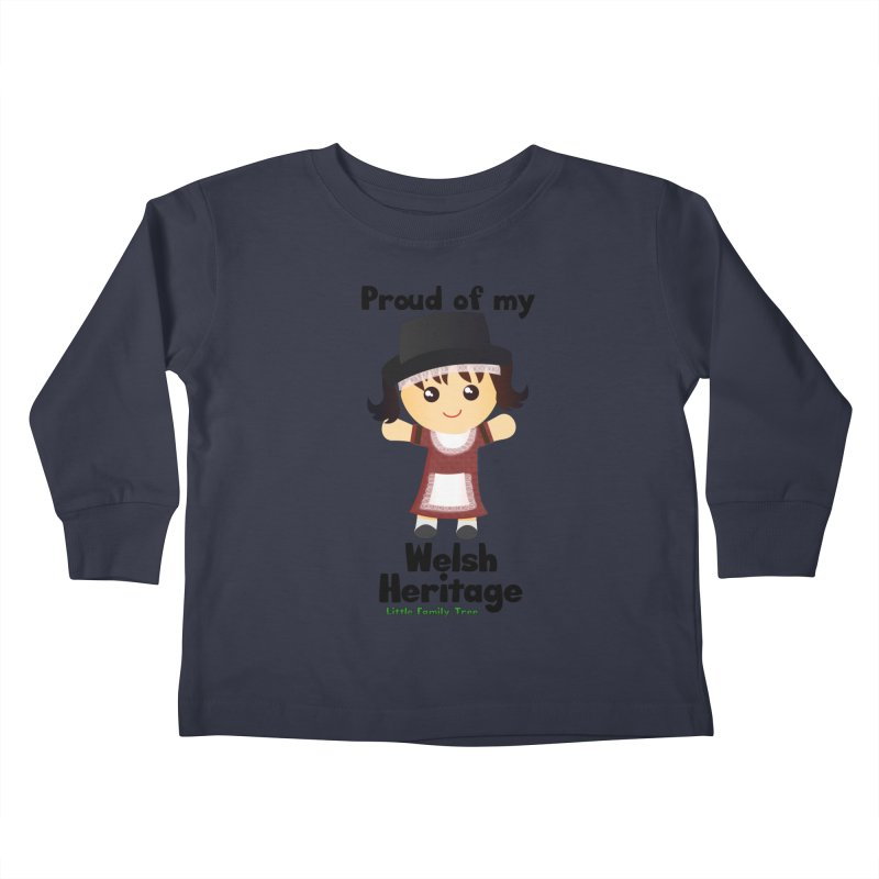 Welsh Heritage Girl Kids Toddler Longsleeve T-Shirt by Yellow Fork Tech's Shop