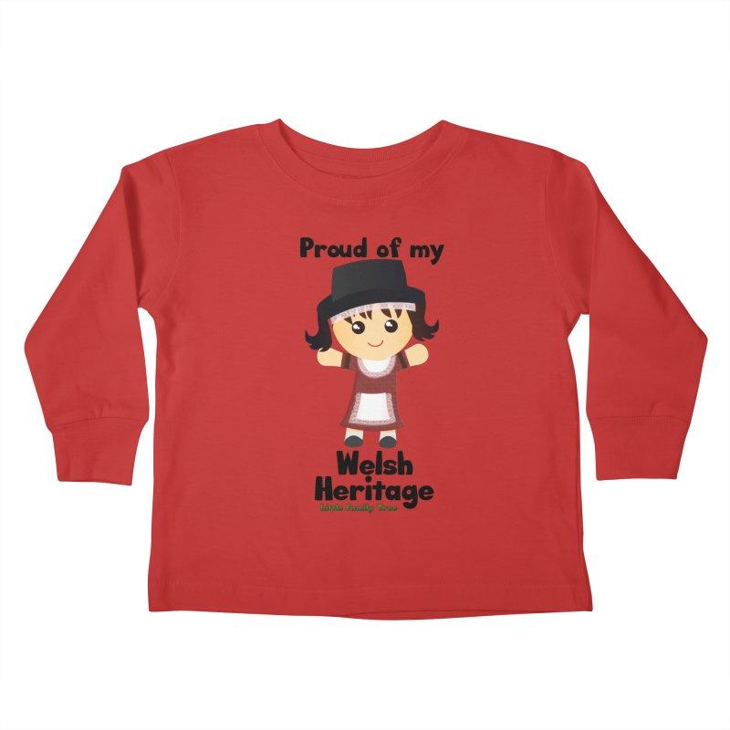 Welsh Heritage Girl Kids Toddler Longsleeve T-Shirt by Yellow Fork Tech's Shop